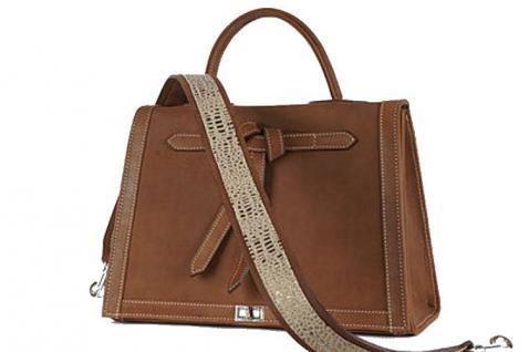 Marquise Paris Handtasche Leder braun