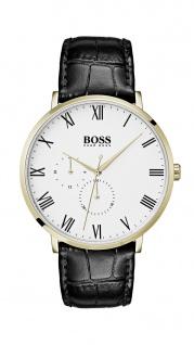 Hugo Boss Herren Uhr William Leder schwarz, 1513620
