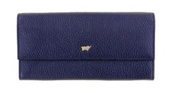 Braun Büffel Geldbörse Ascoli L Blue Metallic, 11458
