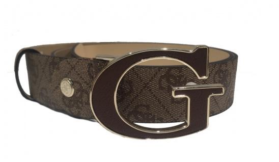 Guess Gürtel kürzbar / 105 cm Koppelschließe Braun