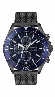 Hugo Boss Herren Uhr Ocean Edition Chrono - Athleisurel Edelstahl Grau, 1513702