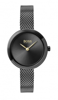 Hugo Boss Damen Uhr Ophelia Edelstahl Grau, 1502499