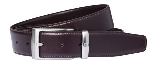 Aigner Gürtel Basic mit S-Schließe silber 126355, dunkelbraun