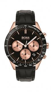 Hugo Boss Herren Uhr Talent Leder schwarz, 1513580