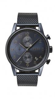 Hugo Boss Herren Uhr Navigator Edelstahl blau, 1513538