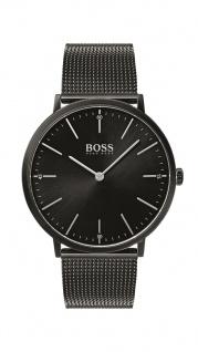 Hugo Boss Herren Uhr Horizon Edelstahl schwarz, 1513542