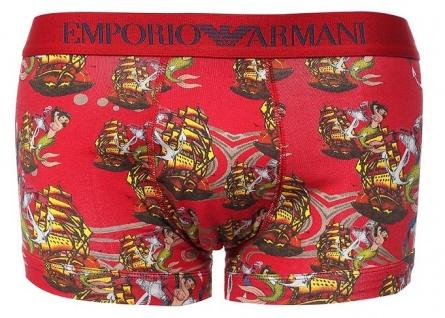 Emporio Armani Trunk Seemannsprint, rosso stampato Größe M
