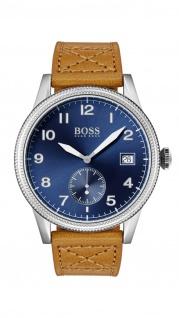 Hugo Boss Herren Uhr Legacy Leder braun, 1513668