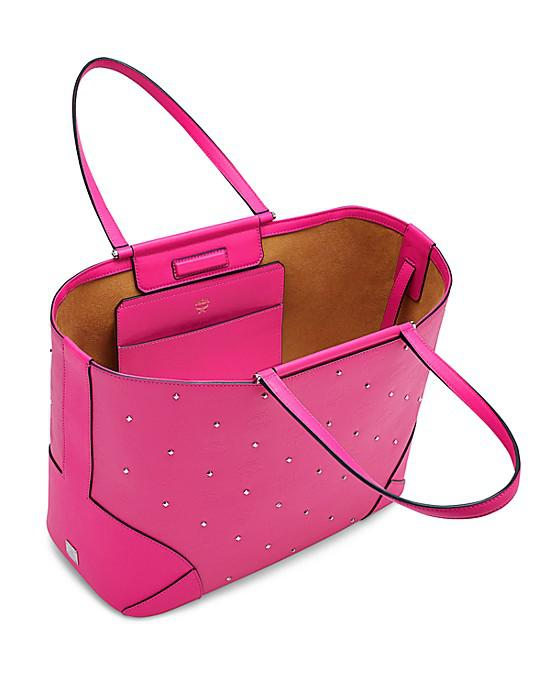 MCM Claudia Studs Shopper medium Pink - Vorschau 4