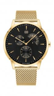Tommy Hilfiger Herren Uhr Brad - Dressed Up Edelstahl Gold, 1710386
