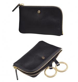 Aigner Schlüssel-Etui mit RV, 153533 schwarz.