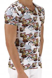 Emporio Armani V-Neck T-Shirt, Seemannsprint weiß 110810 6P502 - Vorschau 2
