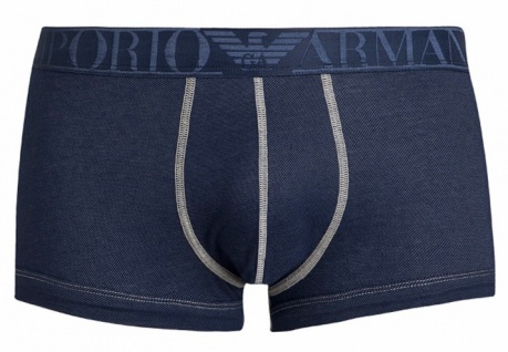 Emporio Armani Stretch Cotton Trunk, Jeansoptik Blau 111866