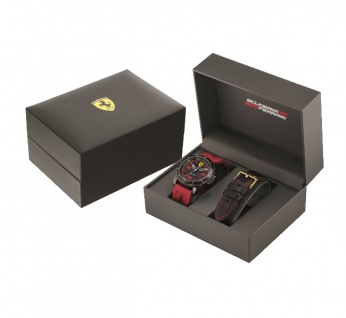 Scuderia Ferrari XX Kers Uhrenset schwarz, 0830484