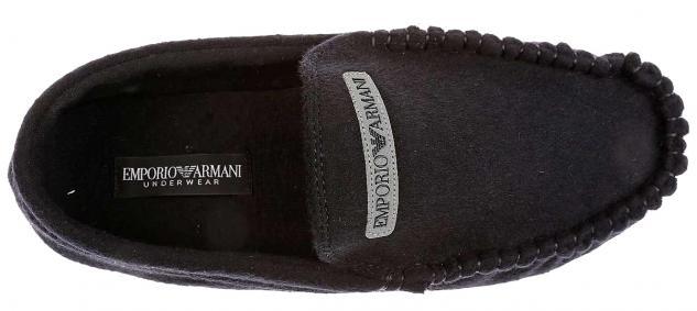 Emporio Armani Homeslipper / Hausschuhe schwarz III - Vorschau 3