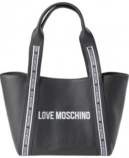 Love Moschino Lederhandtasche, Schwarz