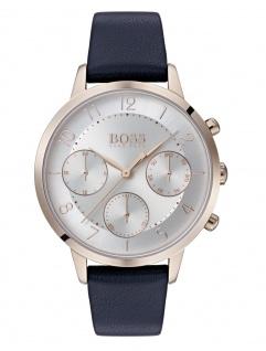 Hugo Boss Damen Uhr Vivid Leder Blau, 1502506