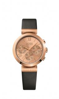 Hugo Boss Damen Uhr Classic Women Sport Leder schwarz, 1502397