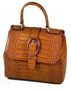 Armani Collezioni Leder Handtasche 926005, Light Brown