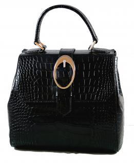 Armani Collezioni Leder Handtasche 926005, Black