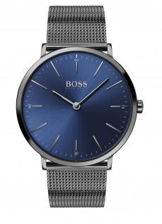 Hugo Boss Herren Uhr Horizon Edelstahl Grau, 1513734