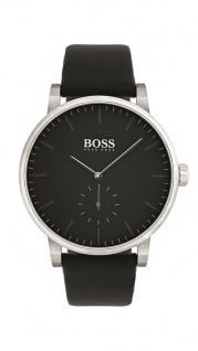 Hugo Boss Herren Uhr Essence Leder schwarz, 1513500