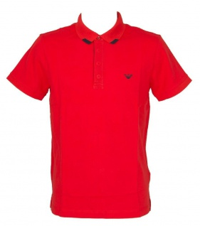 Emporio Armani Herren Polo Shirt, Rot 211804