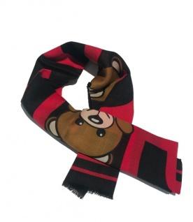 Boutique Moschino Schal mit Bären Print, Rot