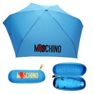 "Moschino Taschenschirm "" Heart Logo"" Supermini Automatik, Blau"