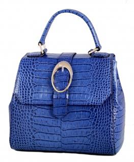 Armani Collezioni Leder Handtasche 926005, Royal Blue