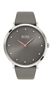 Hugo Boss Damen Uhr Jullian Leder grau, 1502413