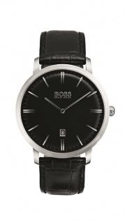 Hugo Boss Herren Uhr Tradition Leder schwarz, 1513460