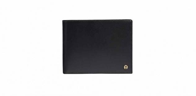 Aigner Portemonnaie 152684, Querformat schwarz