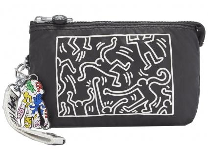 "Kipling Clutch / Kosmetiktasche Creativity XL "" by Keith Haring"", KH Chalk"