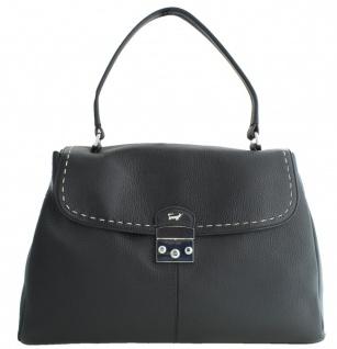 Braun Büffel Handtasche / Schultertasche Tote Bag M Vienna, schwarz 50465