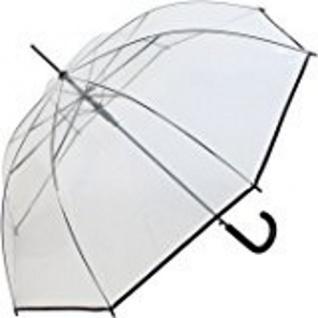 Happy Rain Stockschirm transparent schwarz, 40970