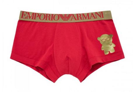 Emporio Armani Stretch Cotton Trunk / Geschenkbox, Rot 111389 Gr. M