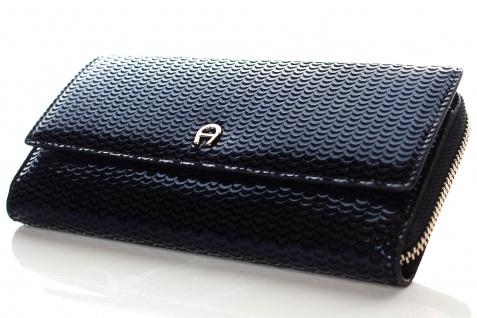Aigner Fashion Geldbörse, Metallic Look, 156133 Deep Blue - Vorschau 2