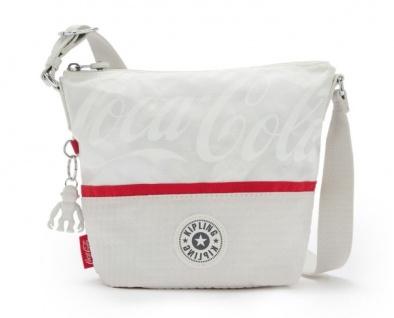 Kipling Umhängetasche / Schultertasche Sonja S Coca Cola, White Bone