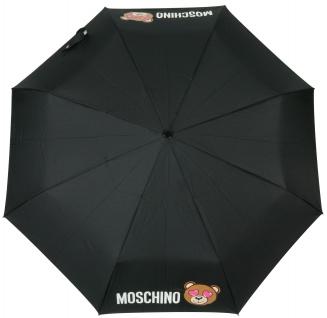 """Moschino Taschenschirm """" Toy in Love"""" Mini Automatik, Schwarz"""
