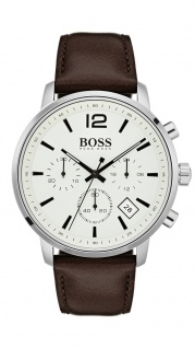Hugo Boss Herren Uhr Attitude Leder braun, 1513609