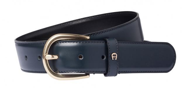Aigner Gürtel Basic mit S-Schließe gold 126347 blau