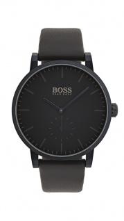 Hugo Boss Herren Uhr Essence Leder dunkelblau, 1513502