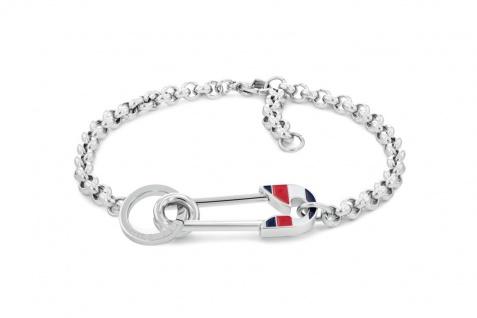 Tommy Hilfiger Damen Armband Casual Edelstahl Silber, 2780498