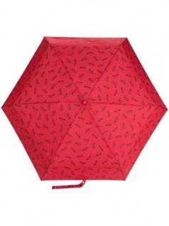 """Moschino Taschenschirm """" Logo"""" Supermini, Red"""