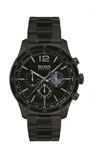 Hugo Boss Herren Uhr Professional Edelstahl IP schwarz, 1513528