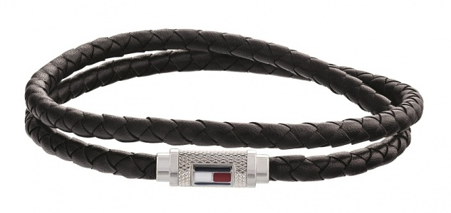 Tommy Hilfiger Armband Leder schwarz, 2790011