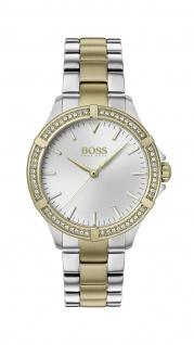 Hugo Boss Damen Uhr Mini Sport - Athleisure Edelstahl Silber/Gold, 1502467