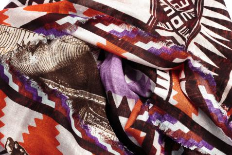 Loup Noir Tuch Natives, purple/red - Vorschau 2