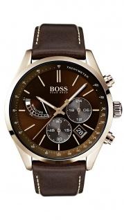 Hugo Boss Herren Uhr Grand Prix Leder braun, 1513605